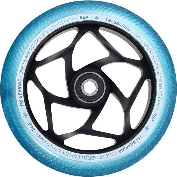Blunt Envy Tri Bearing Scooter Wheel 120mm x 30mm - Black/Teal