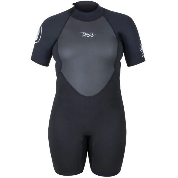 Body Glove Pro 3 Back Spring 2/1 Womens Wetsuit - Black (Womens Size 7/8)