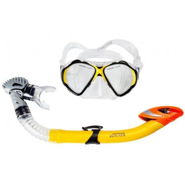 Body Glove Tornado Snorkel Set - Yellow (Adult)