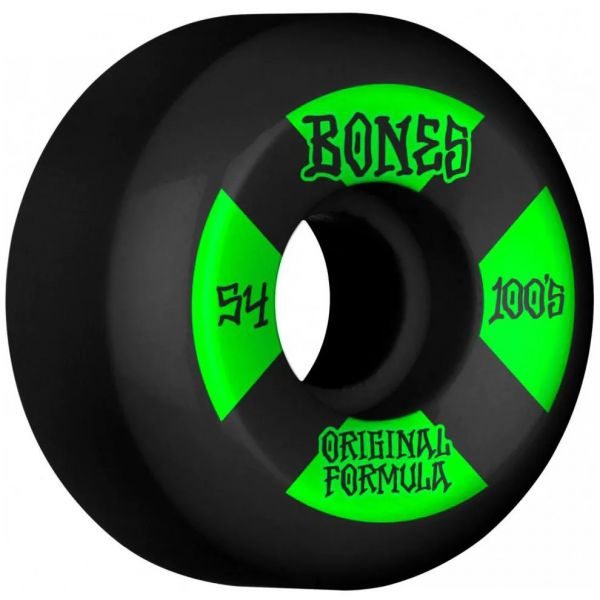 Bones OG 100's #4 V5 Sidecut Skateboard Wheels - Black 54mm