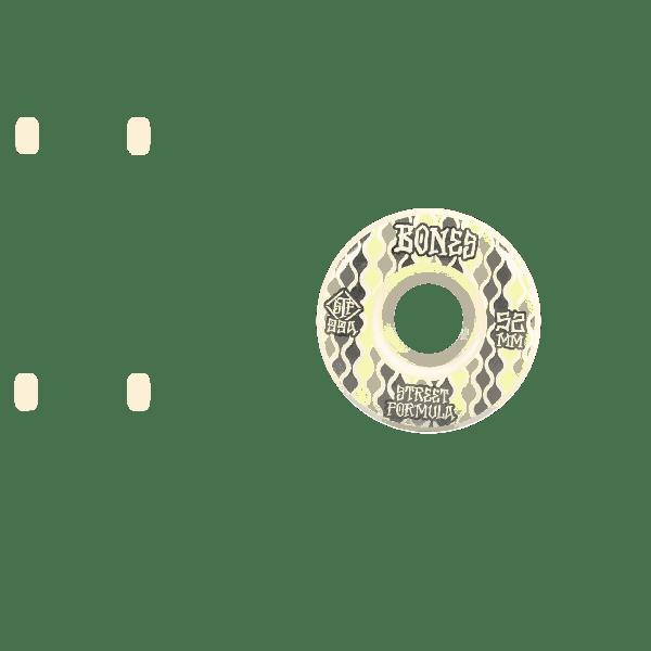 Bones Retros 99A V2 Locks STF Skateboard Wheels - White 53mm