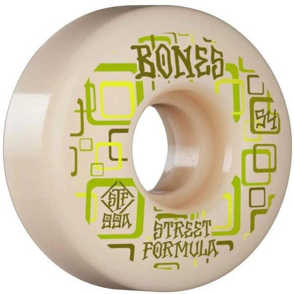 Bones Retros 99A V3 Slims STF Skateboard Wheels - White 54mm