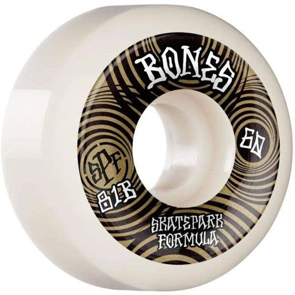 Bones Ripples 81B P5 Sidecut SPF Skateboard Wheels - White 60mm