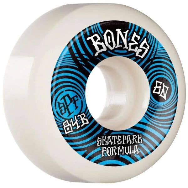 Bones Ripples 84B P5 Sidecut SPF Skateboard Wheels - White 60mm