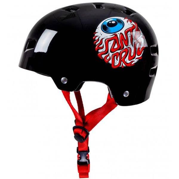 Bullet x Santa Cruz Eyeball Youth Helmet - Gloss Black (49-54cm)