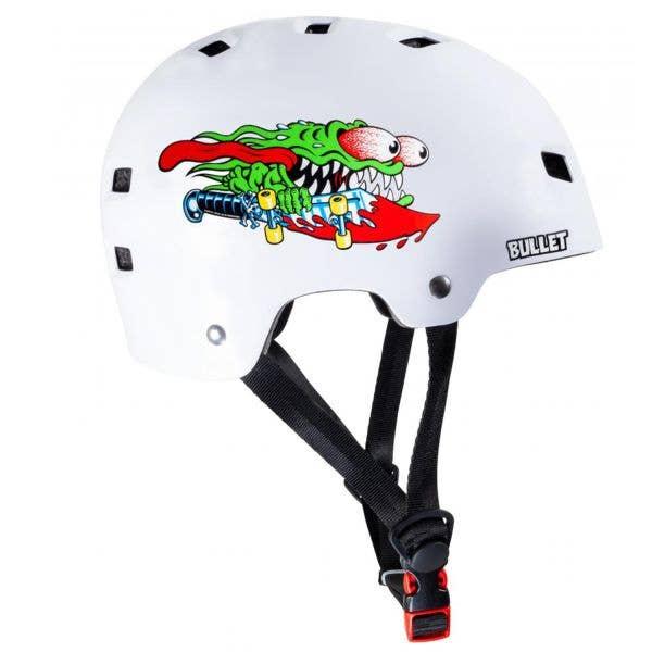 Bullet x Santa Cruz Slasher Youth Helmet - Gloss White (49-54cm)