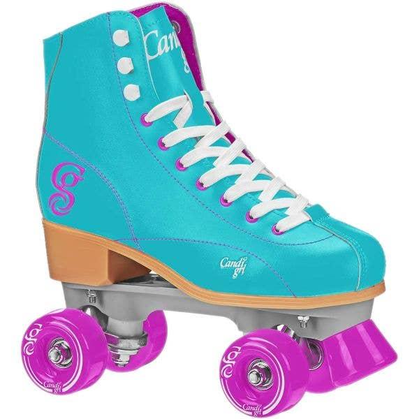 Candi Girl Sabina Quad Roller Skates - Mint/Purple