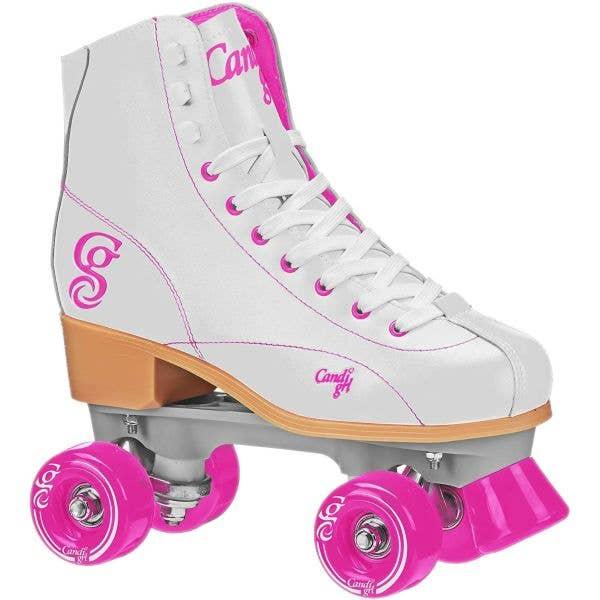 Candi Girl Sabina Quad Roller Skates - White/Pink