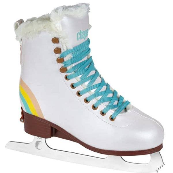 Chaya Bliss Adjustable Ice Skates - Vanilla LRG