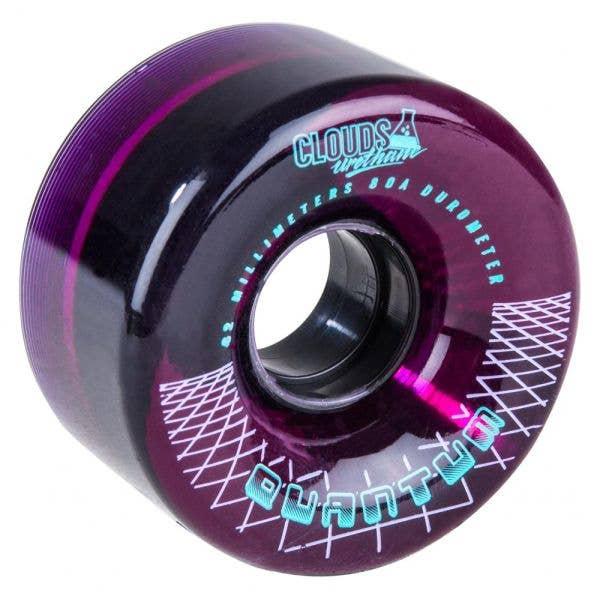 Clouds Quantum Wheels - Clear/Purple (4 Pack)