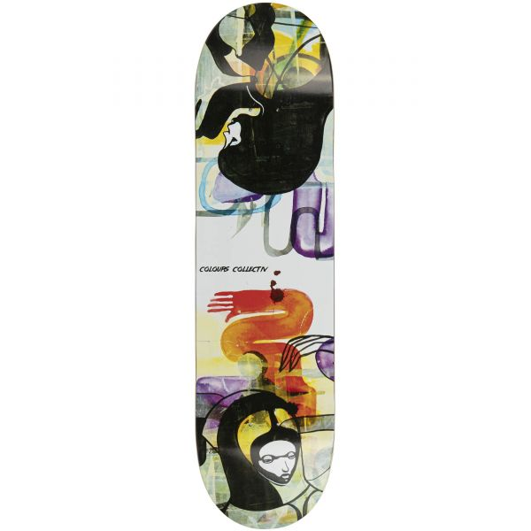 Colours Collectiv Will Barras: Grunge Queen of Hearts Skateboard Deck - 8.15''
