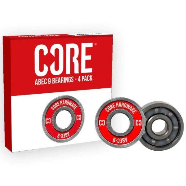 CORE ABEC 9 Skate Bearings (4 pack)