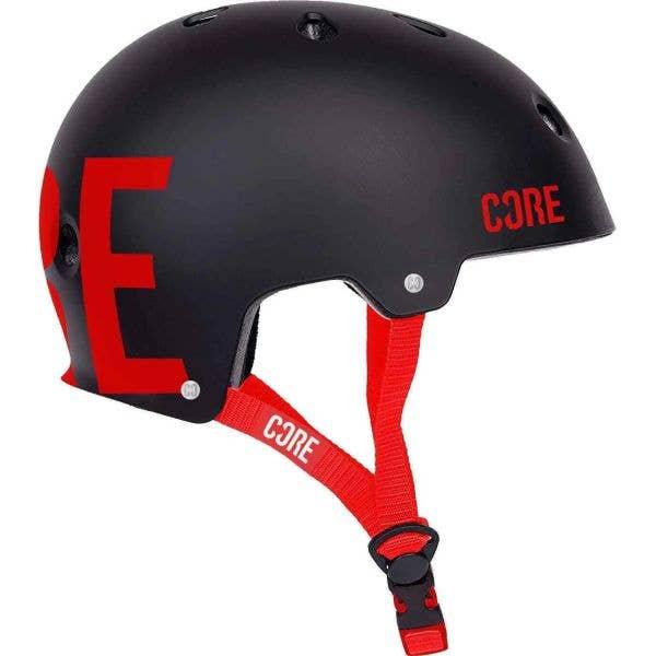 Core Street Helmet - Black/Red