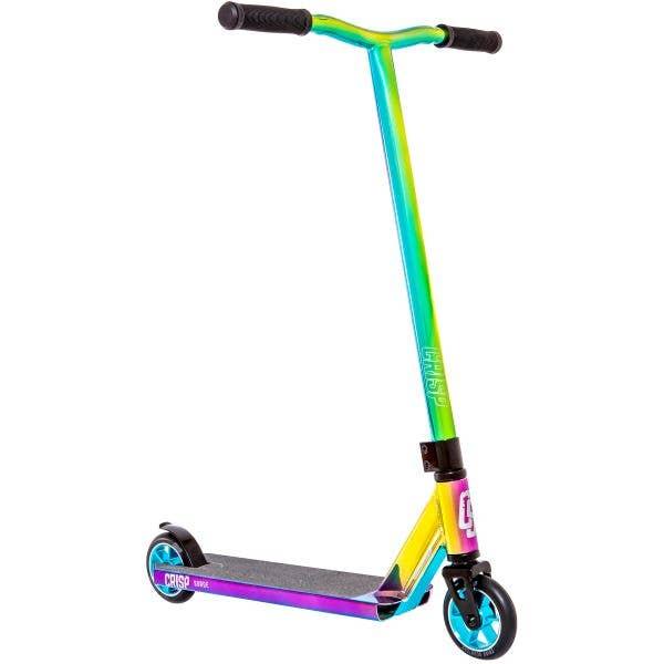 Crisp 2020 Surge Stunt Scooter - Chrome Blue/Green/Purple