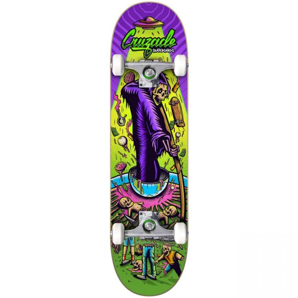 "Cruzade Deathskull Complete Skateboard - 8.25"""