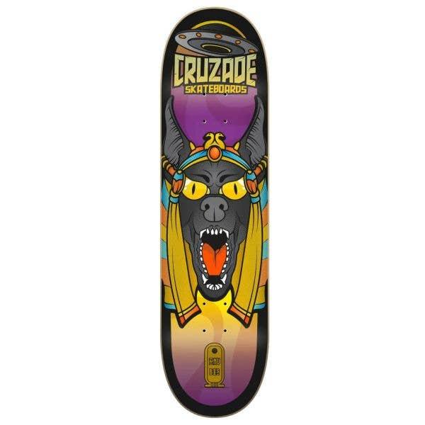 Cruzade Conspiracy Anubis Skateboard Deck - 8.375''