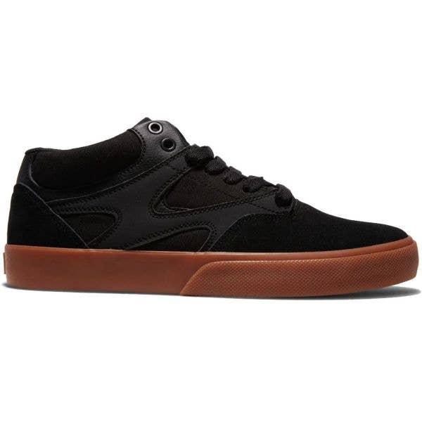 DC Kalis Vulc Mid Skate Shoes - Black/Black/Gum