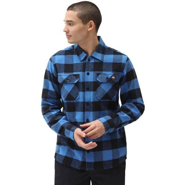 Dickies Sacramento Long Sleeve Shirt - True Blue