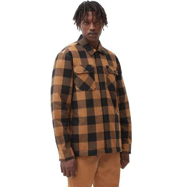 Dickies Sherpa Lined Sacramento Shirt - Brown Duck