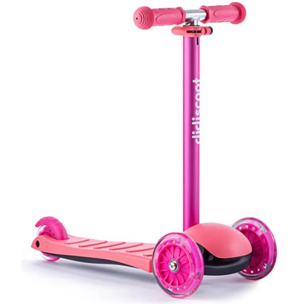 Didicar Didiscoot Three Wheeled Scooter - Pink