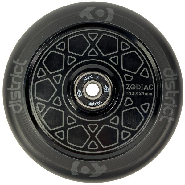 District Zodiac 110mm Scooter Wheel - Black/Black