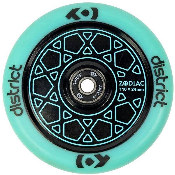District Zodiac 110mm Scooter Wheel - Sky Blue/Black