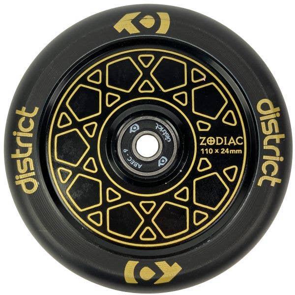 District Zodiac 110mm Scooter Wheel - Gold/Black