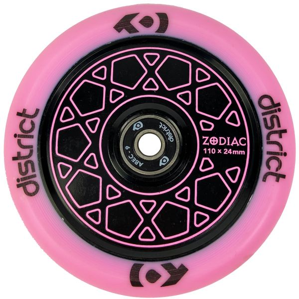 District Zodiac 110mm Scooter Wheel - Pink/Black