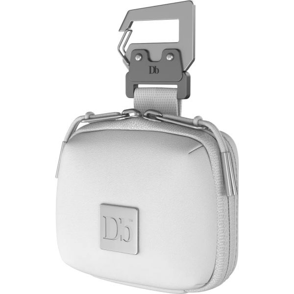 Db The Micro Portable Pocket Bag Clip - PU Leather White Out