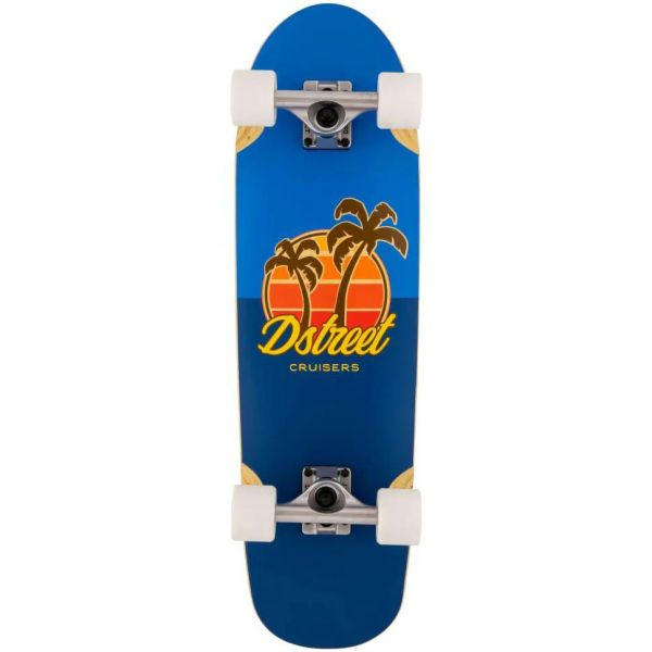 D-Street Palm Complete Cruiser - Blue 29.5''