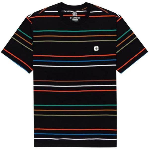 Element Hovden Stripes T Shirt - Flint Black