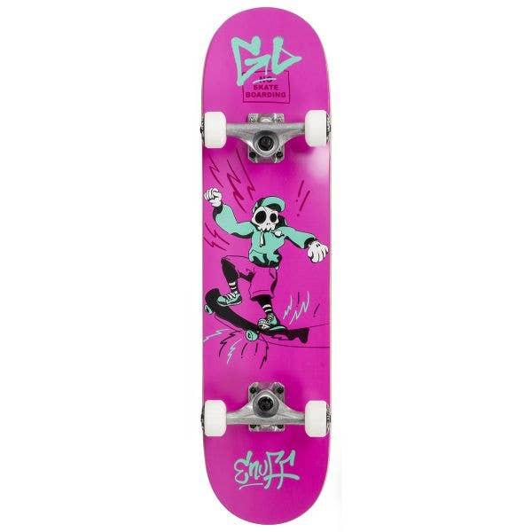 Enuff Skully Mini Complete Skateboard - Pink 7.25''