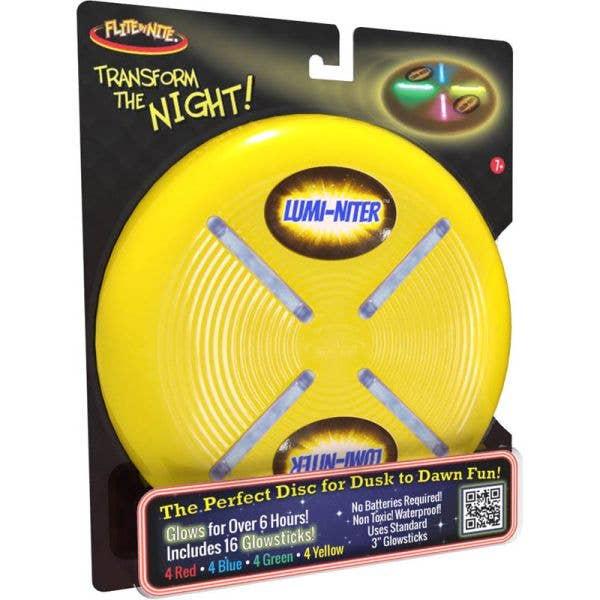 Flite by Nite Lumi Niter Flying Disc - Yellow