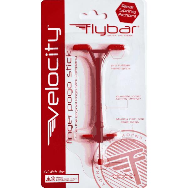 Flybar Velocity Mini Finger Pogo Stick - Red