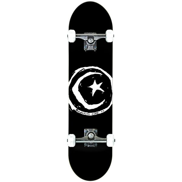 Foundation Star & Moon Complete Skateboard - Black 8.0''