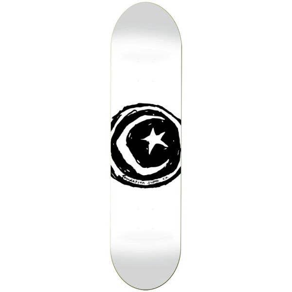 Foundation Star & Moon Skateboard Deck - White 8.5''