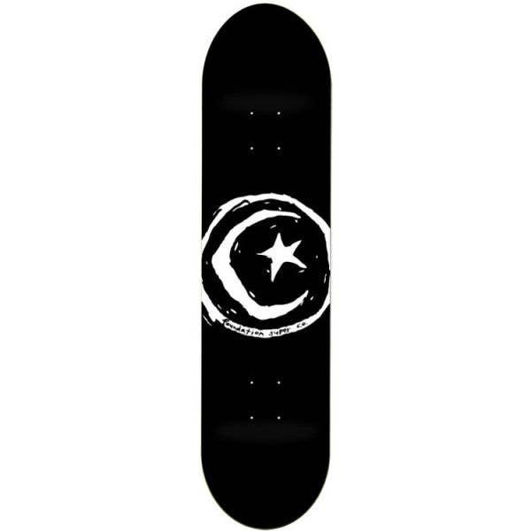 Foundation Star & Moon Skateboard Deck - Black 8''