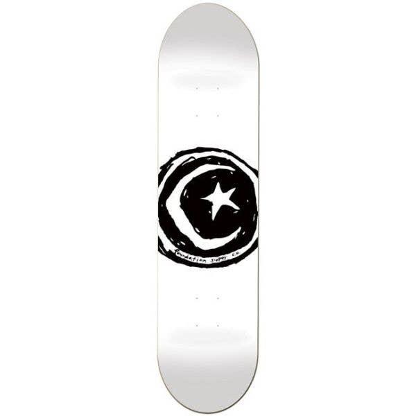 Foundation Star & Moon Skateboard Deck - White 8.25`
