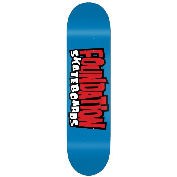 Foundation From the 90s Skateboard Deck - Blue 8.25''