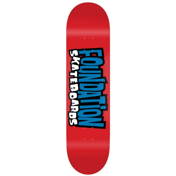 Foundation From the 90s Skateboard Deck - Red 8''