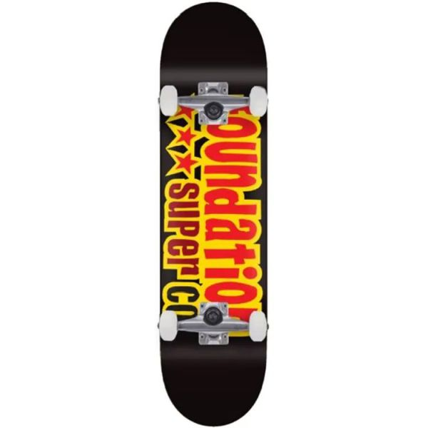 Foundation 3 Stars Complete Skateboard - Black 8.13''