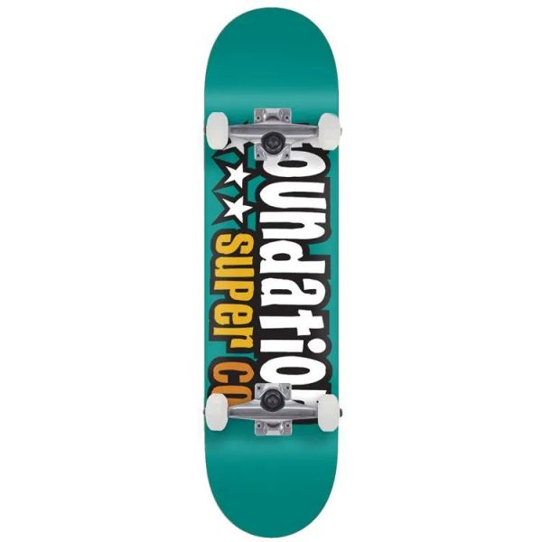 Foundation 3 Star Complete Skateboard - Teal 7.8''
