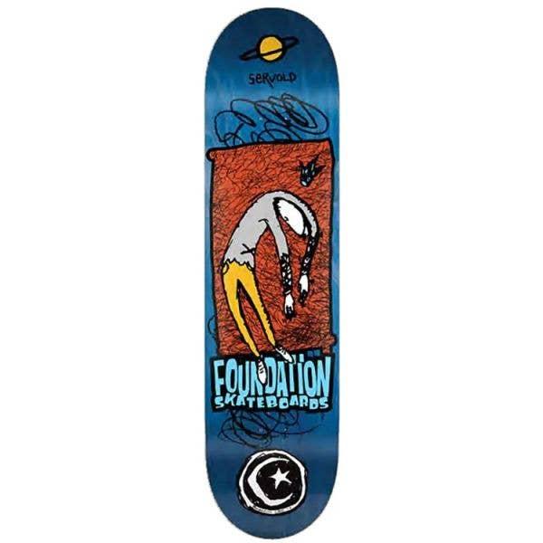 Foundation Planet Saturn Skateboard Deck - Servold 8''