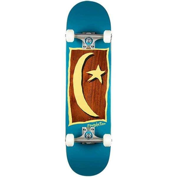 Foundation Star & Moon V2 Complete Skateboard - Blue 7.88''