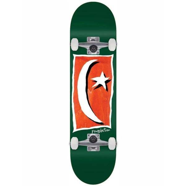 Foundation Star & Moon V2 Complete Skateboard - Green 8.13''