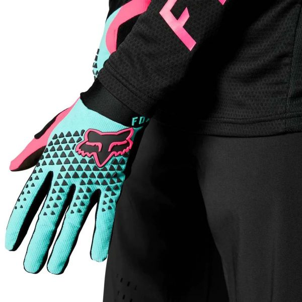 Fox Defend Protective Gloves - Teal