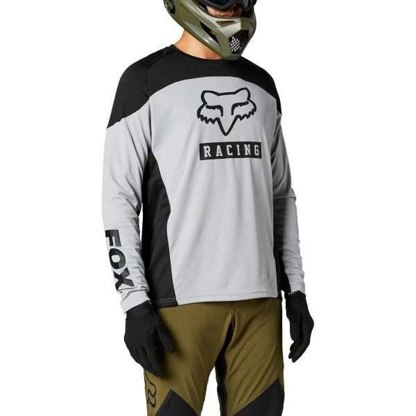 Fox Defend Long Sleeve Jersey - Steel Grey