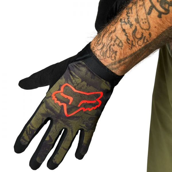 Fox Flexair Ascent Protective Gloves - Olive Green