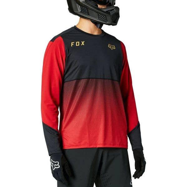 Fox Flexair Long Sleeve Jersey - Chilli