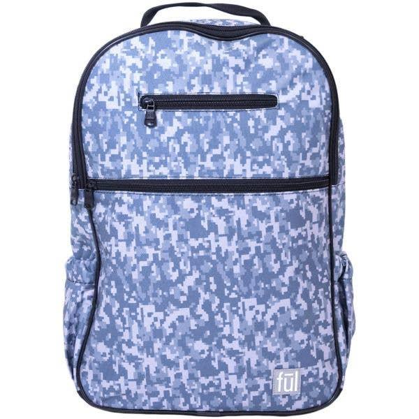 FUL Accra Backpack - Grey Digital Camo Print